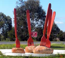 big forks in big potatoes