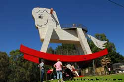big rocking horse at gumeracha
