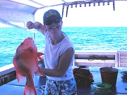 snapper and coral trout fishing in australia on the great barrier reef, queensland