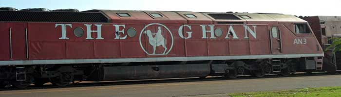 the Ghan can take you from either Darwin or Adelaide to Alice Springs