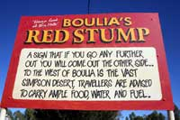 the red stump
