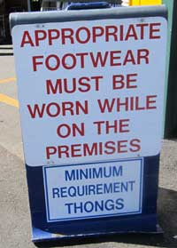 wear your thongs