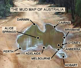 mud map of australia