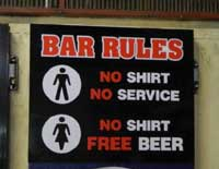 bar rules sign